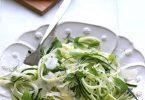 Spaghetti de courgettes, parmesan et basilic