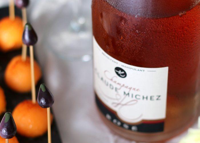 Billes de melon au piment d'Espelette pour un champagne rosé d'été