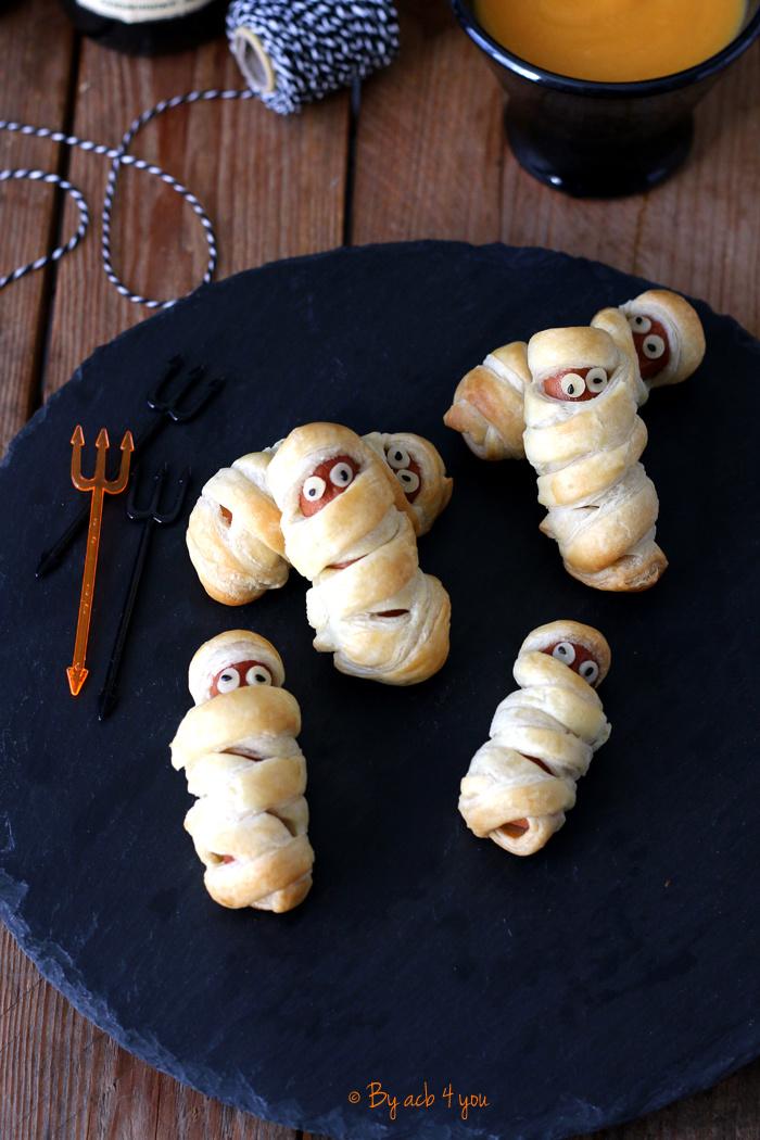 Les knacks momie pour Halloween