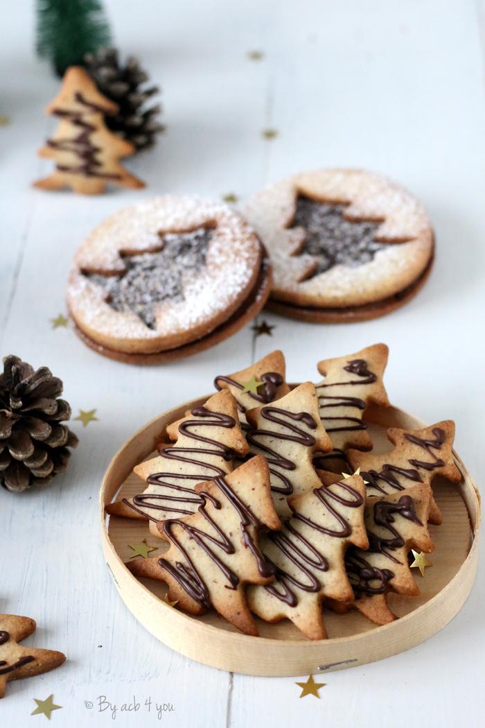 Mes gros sablés de Noël au chocolat, fève tonka et un peu noisette