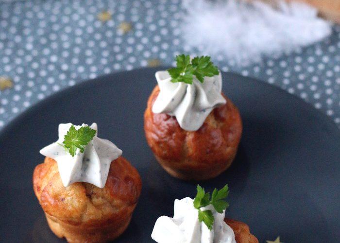 Cupcakes aux noix et crème de Saint Agur