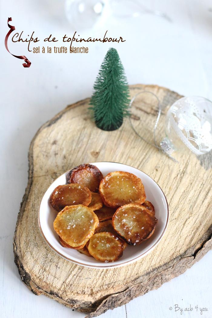 Chips de topinambour au sel à la truffe blanche