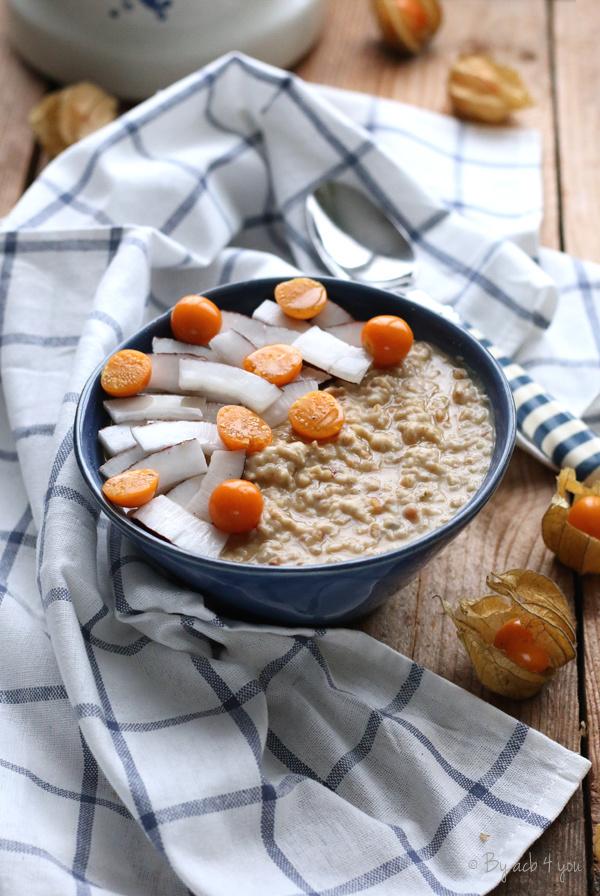 Porridge au beurre de cacahuète