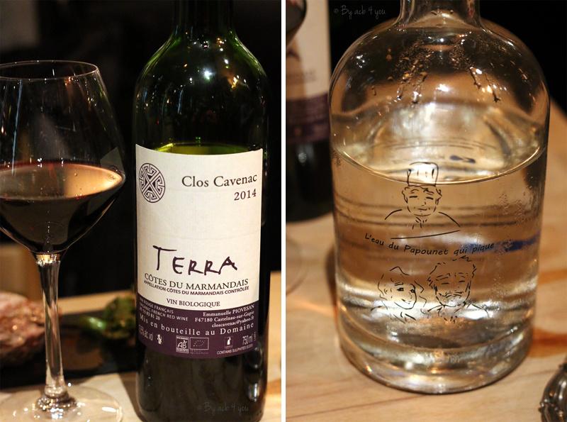 Le vin bio et l'eau du Papounet qui pique