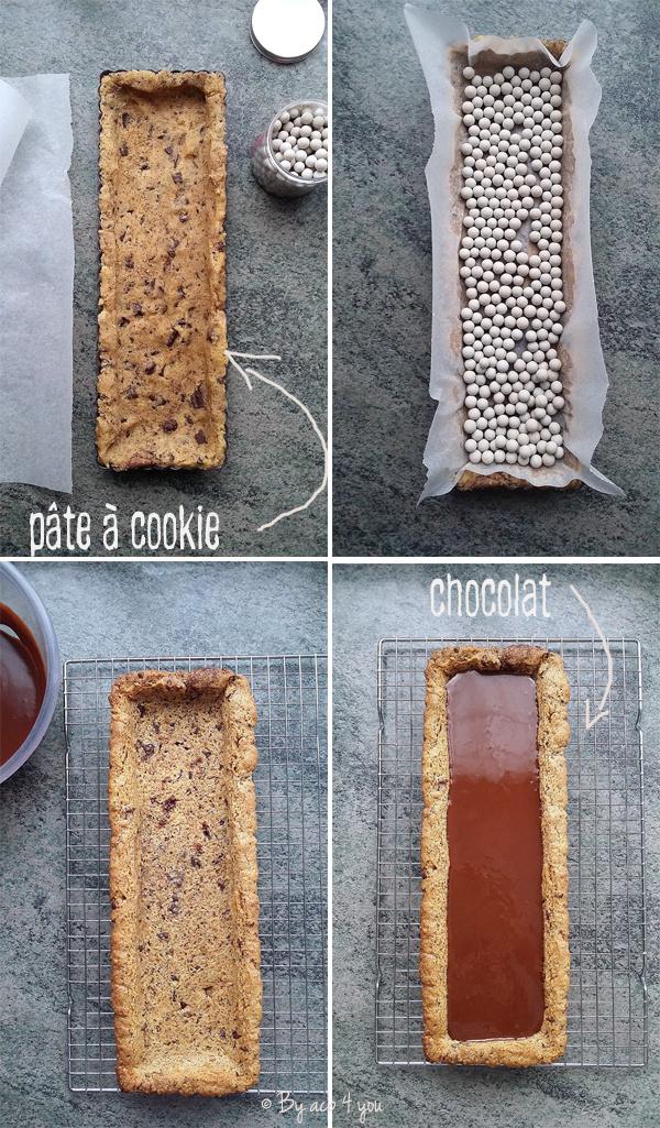 Tarte au chocolat comme un potager