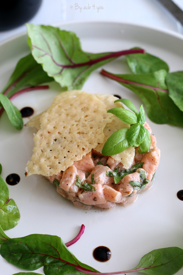 Tartare de saumon citron basilic