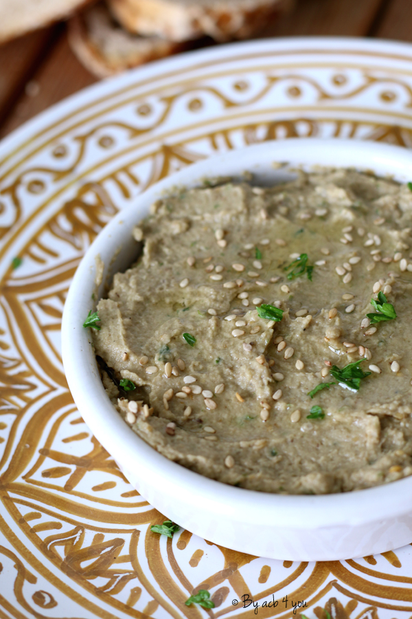 Baba Ghannouj ou purée d'aubergine turque