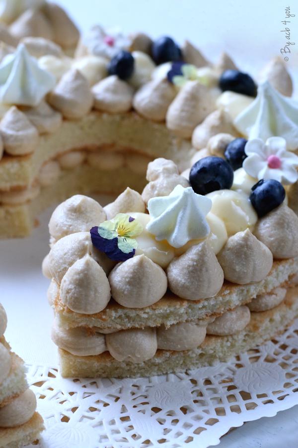 Number cake au Dulcey et crémeux citron