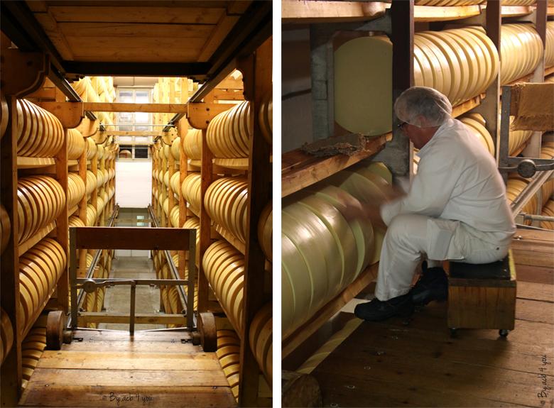 Cave d'affinage du fromage suisse Sbrinz