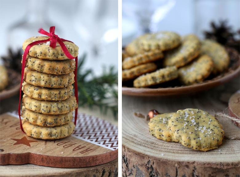 Biscuits apéritifs au pavot et citron