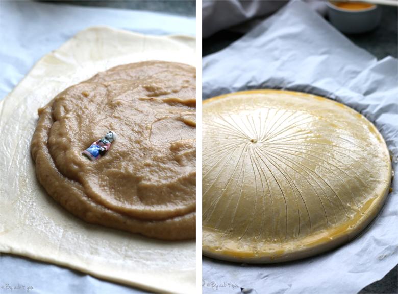 Réalisation d'une galette des rois avec une pâte feuilletée