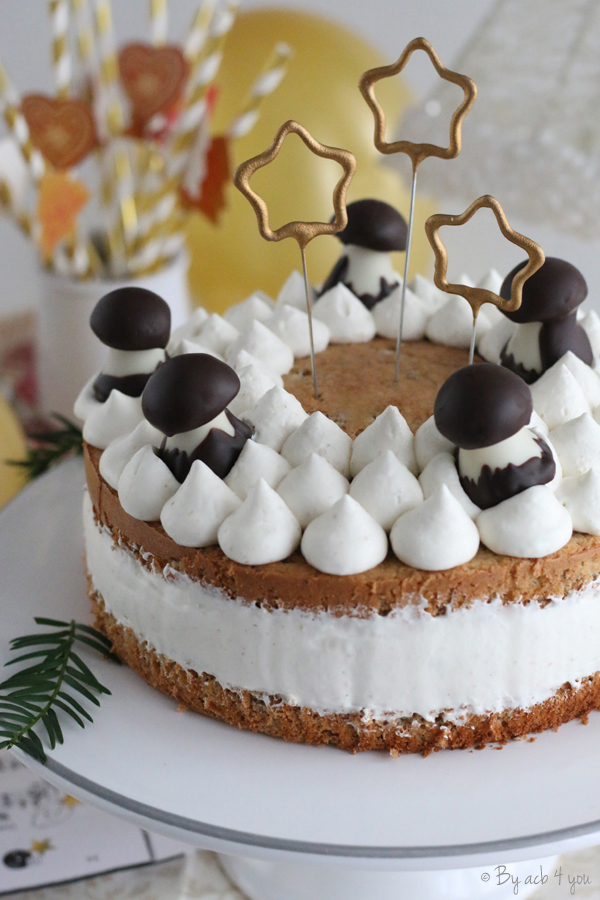 Gâteau à la crème chantilly tonka pour Noël