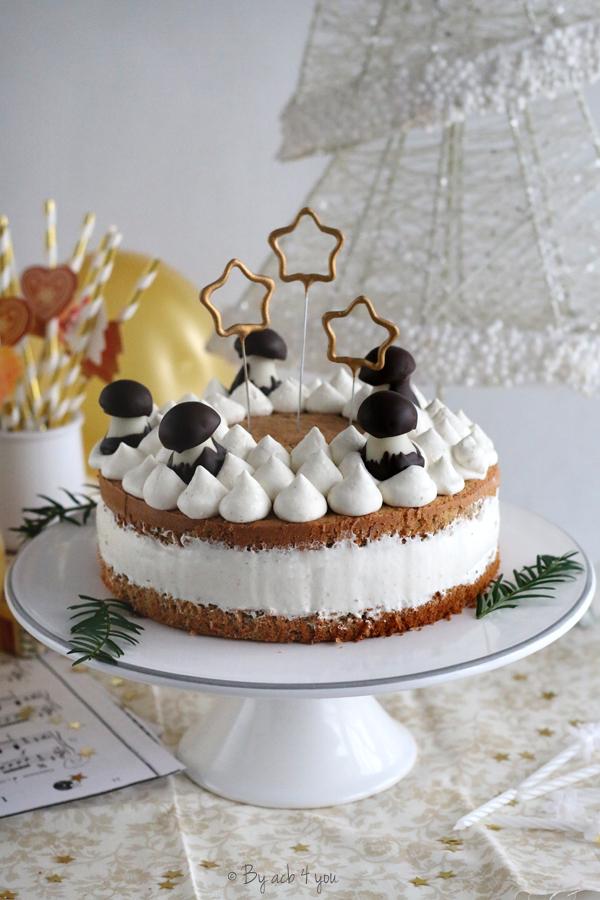Gâteau d'anniversaire à la chantilly