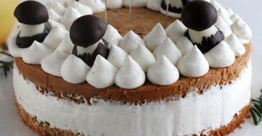 Gâteau à la crème pour Noël