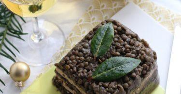 Terrine de lentilles et foie gras