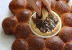 Brioche à partager autour d'un camembert rôti aux truffes