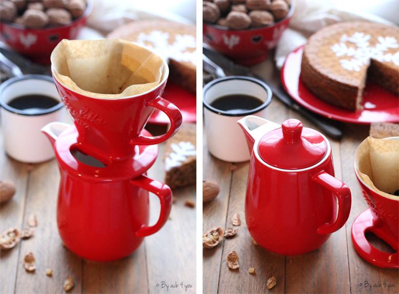 Cafetière en porcelaine rouge Pour Over Melitta