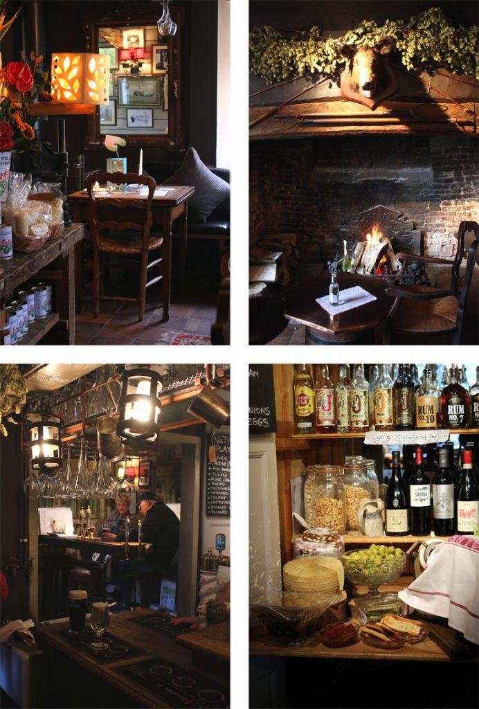 La salle du pub Woolpack Inn
