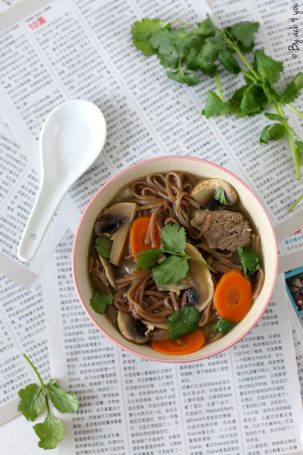 Soupe de nouilles soba au bœuf