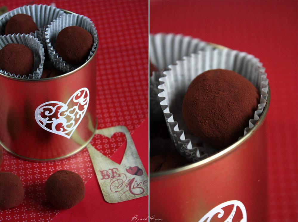 Truffes au chocolat et au rhum vieux {to your Valentine}