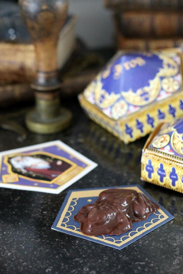 Gâteau chocogrenouille pour un anniversaire Harry Potter