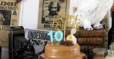 gâteau d'anniversaire Harry Potter au chocolat