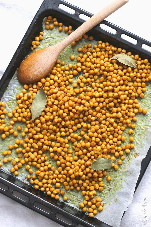 Pois chiches au curry rôtis