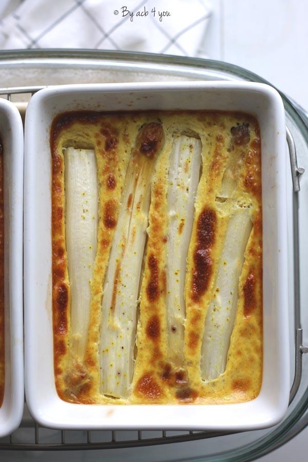 Flan aux asperges et curry