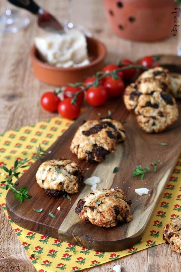 Cookies apéritif, tomates séchées et parmesan