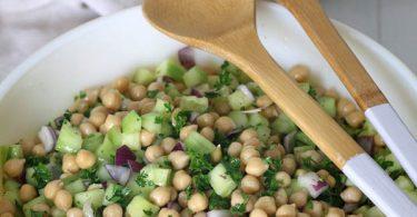 Salade de pois chiches et concombre