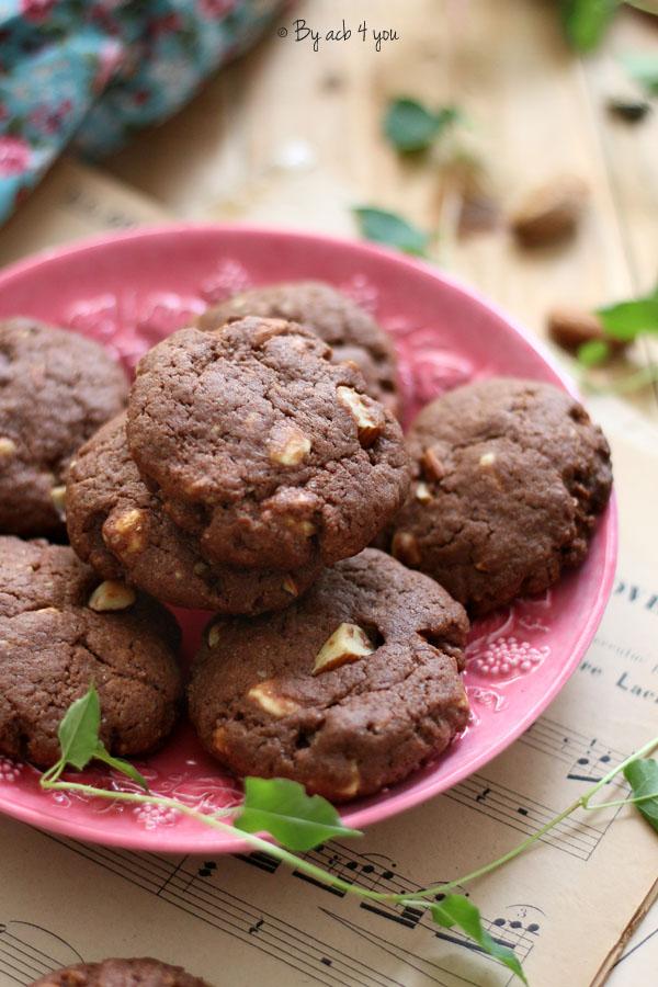 Cookies au chocolat blanc et amandes