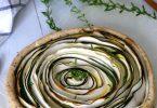 Tarte tourbillon courgettes et moutarde