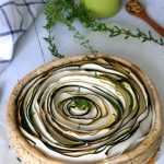 Tarte tourbillon courgettes et moutarde