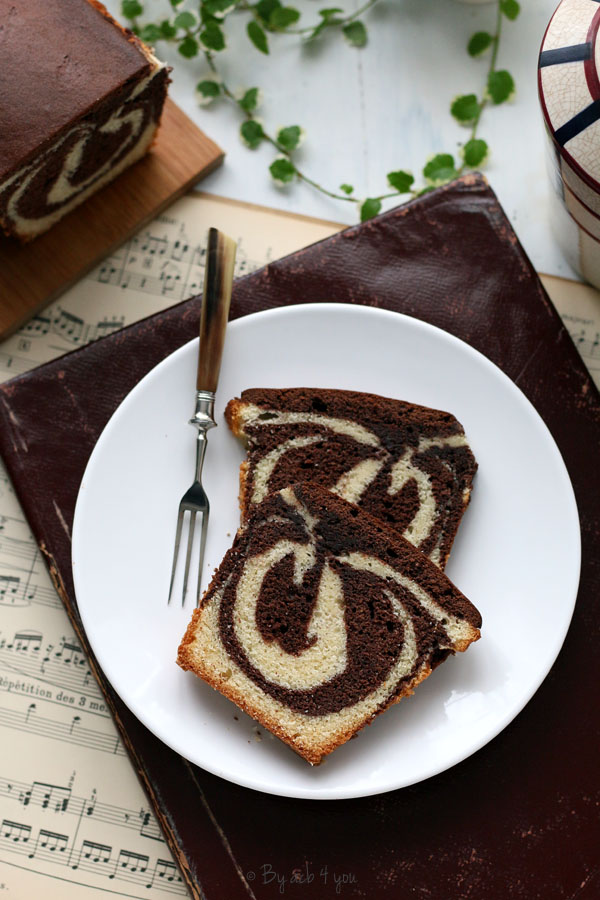 Cake marbré très moelleux