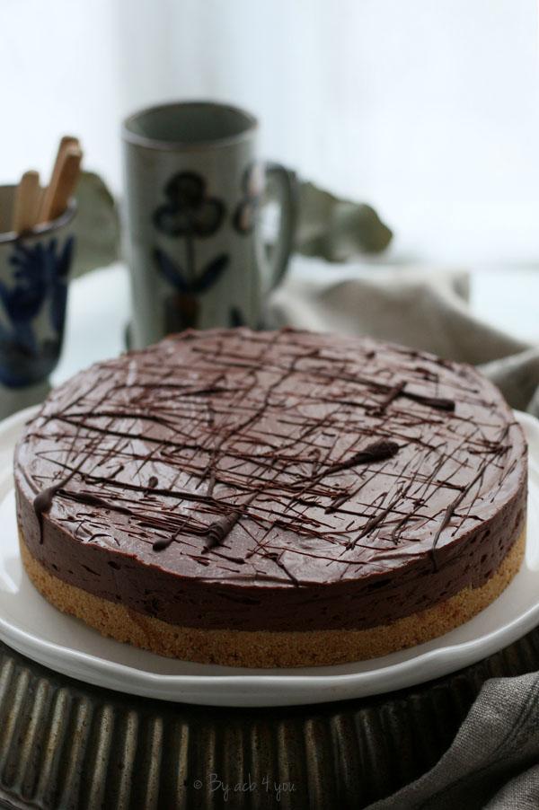 Cheesecake crémeux et sans cuisson au chocolat
