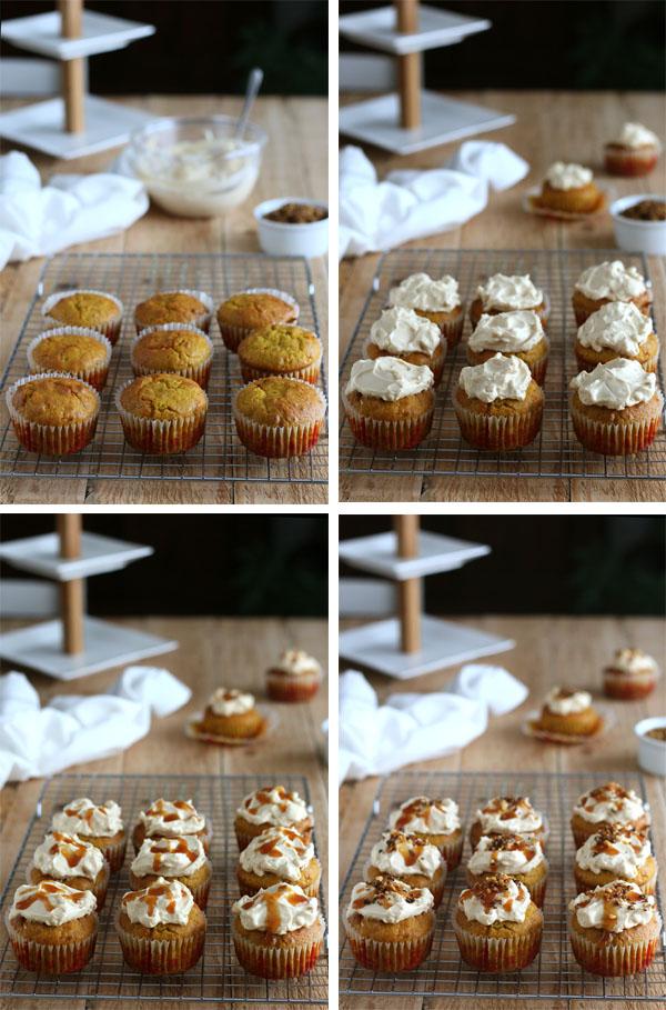 Muffins décadents au potimarron, noix de pécan et caramel au beurre salé