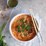 Soupe de gambas aux vermicelles de riz