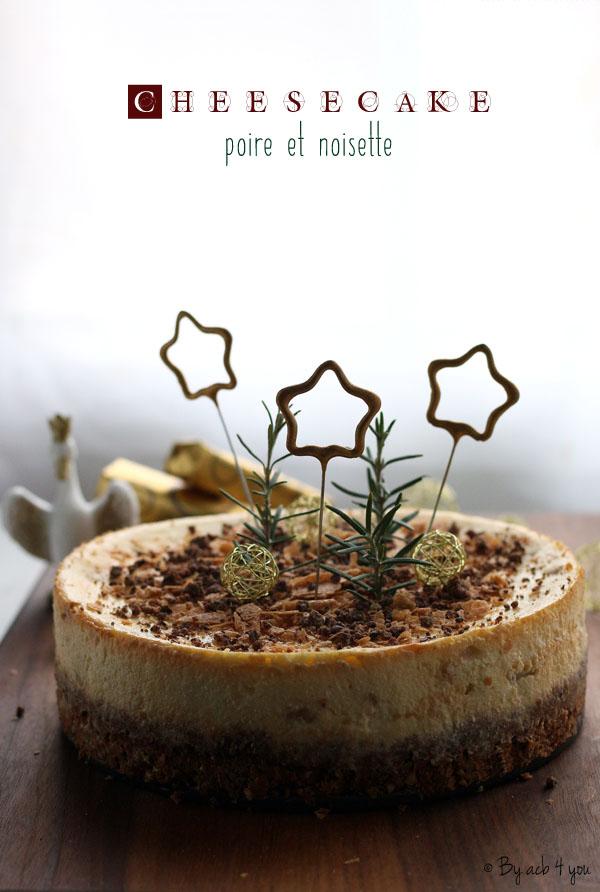Cheesecake aux poires et Gavotte