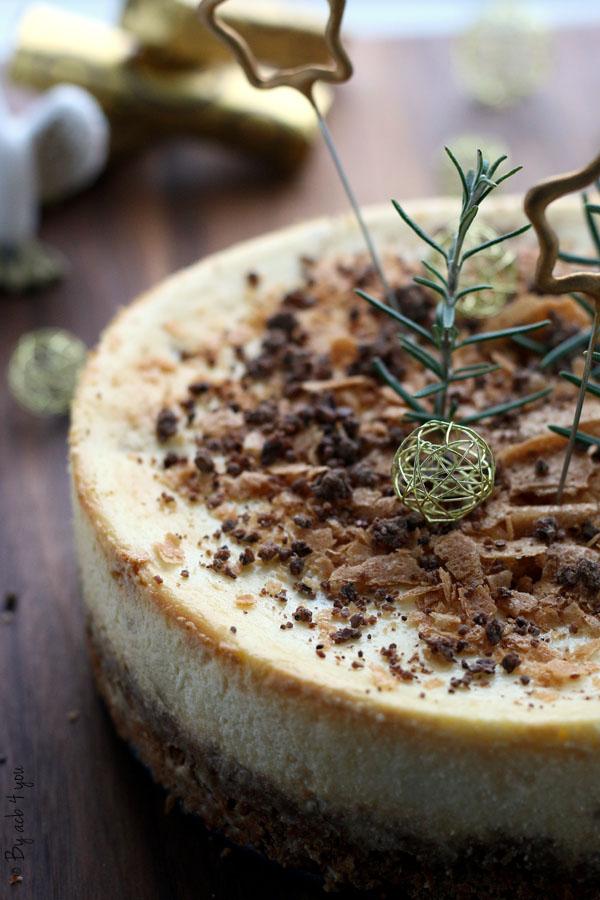 Cheesecake aux poires et noisettes