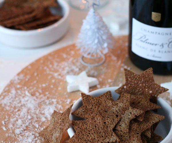 Chips de sarrasin pour l'apéritif de Noël
