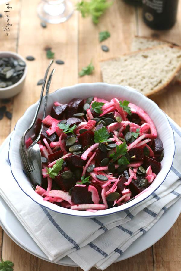 Salade d'hiver au fenouil et betterave
