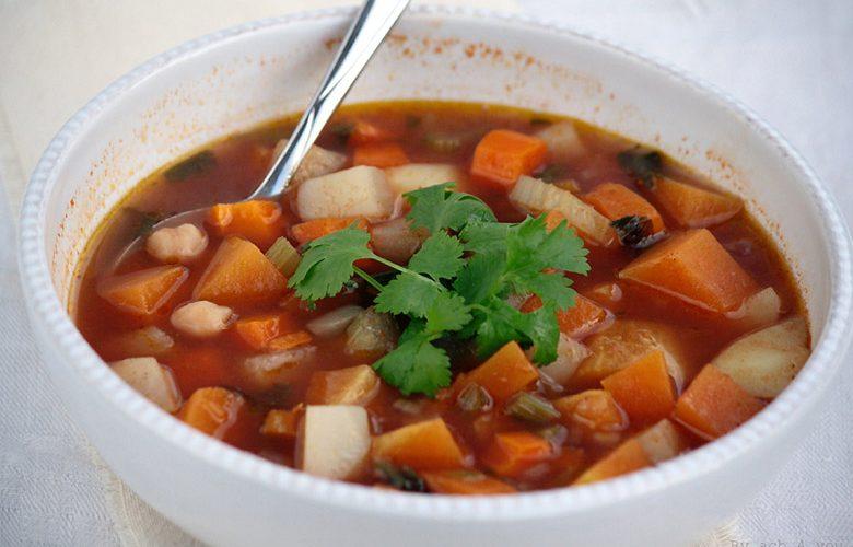 Soupe de légumes façon chorba