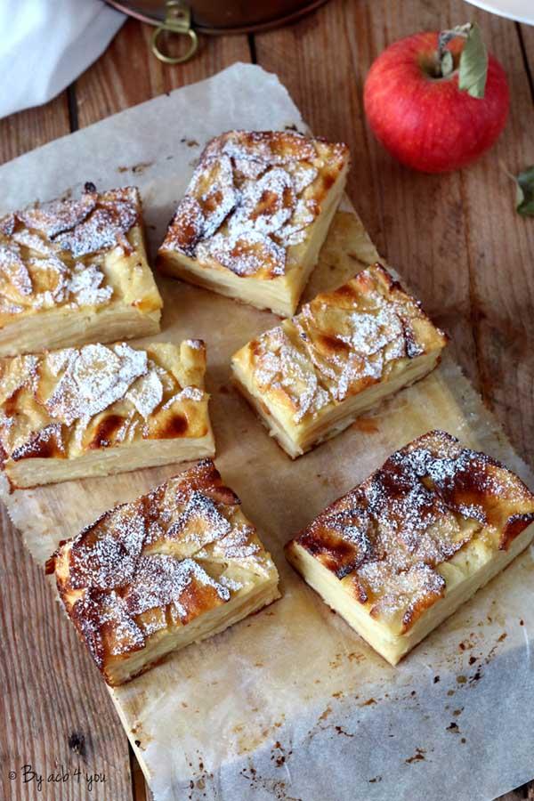 Gâteau invisible aux pommes fondantes