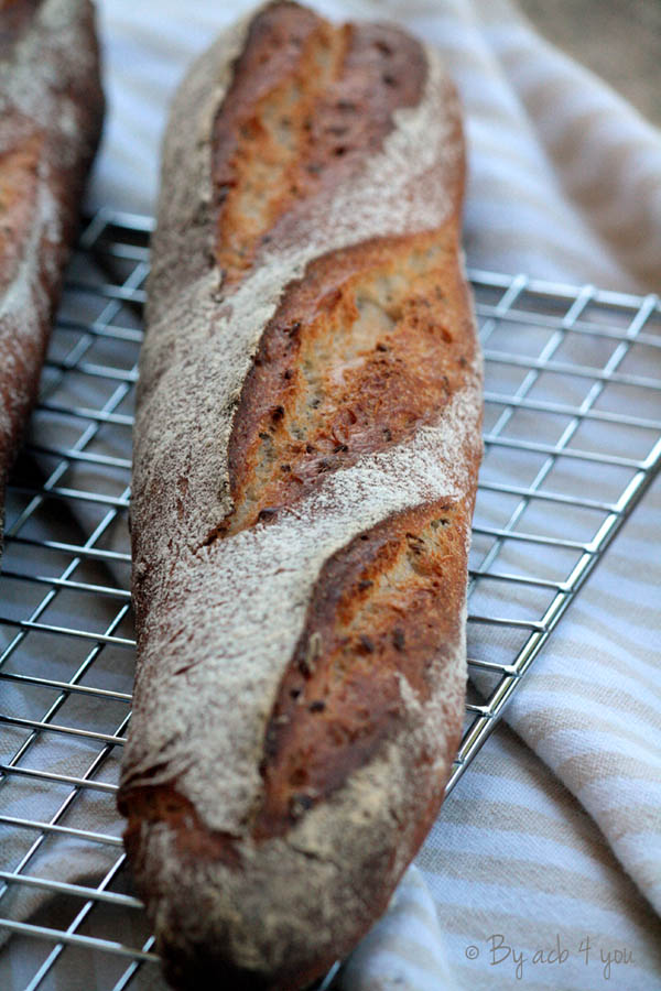 Baguettes maison à l'épeautre et graines de lin