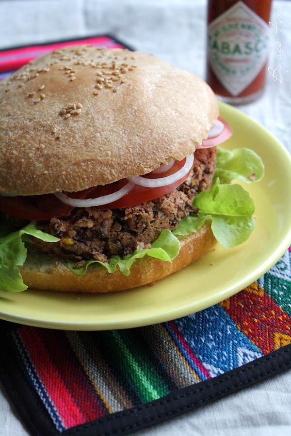 Veggie burger Tex Mex