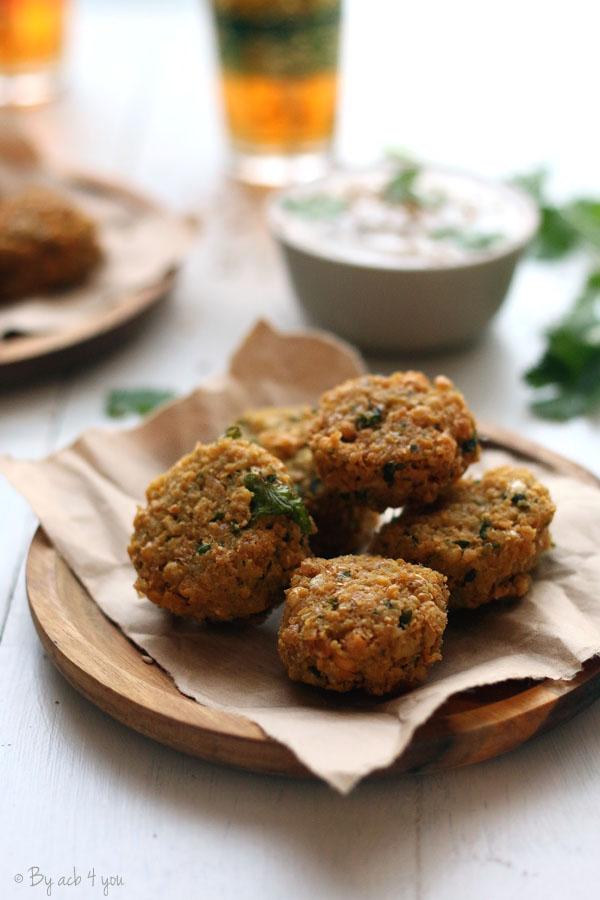 Falafels, les boulettes de pois chiches frites