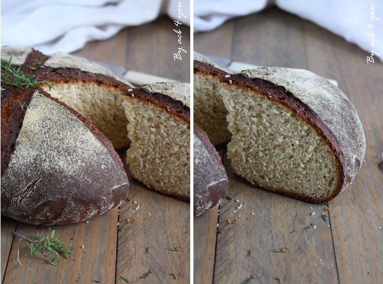 pain à la farine de pois chiche et au thym