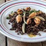 Salade de lentilles, moules et fenouil