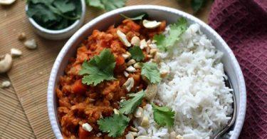 Dahl aux carottes et lait de coco ou curry de lentilles corail