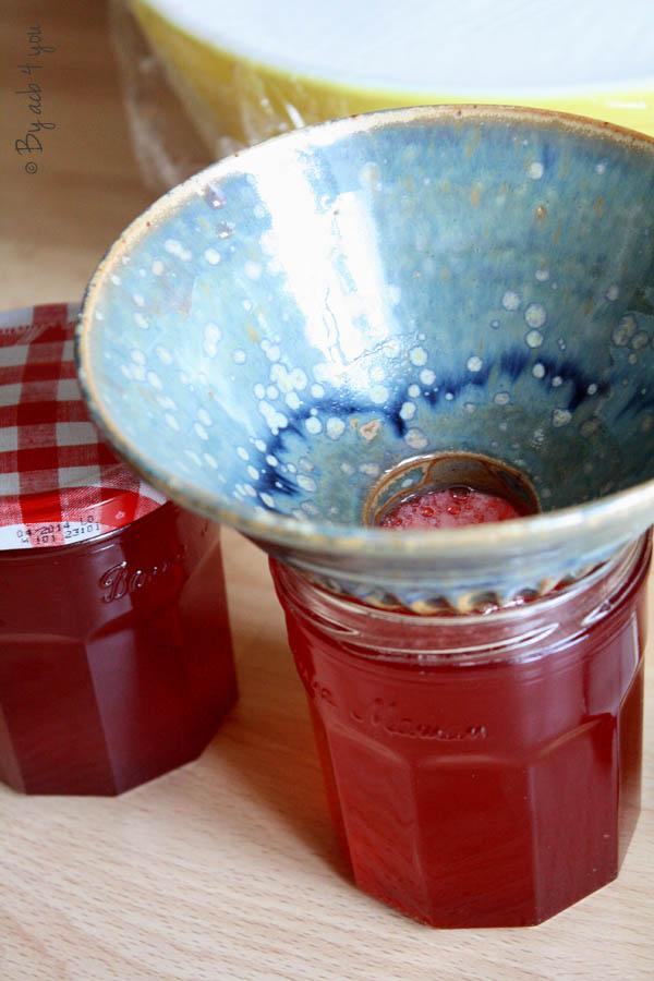 Gelée de fraise et rhubarbe